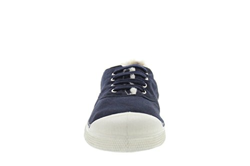 BENSIMON Chaussures TENNIS L FOURRE - Beige Bleu Foncé