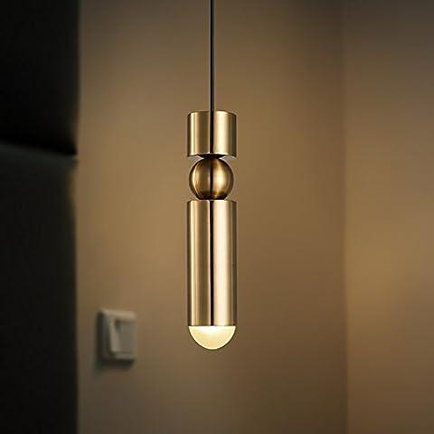 Ristorante moderno minimalista lampadari con testa singola personalità caratteristiche piccolo Lampadario Lampada led ferro metallo studio camera da letto illuminazione 7 * 35cm