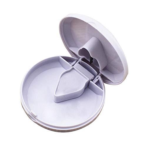 qiheiyipian Cortador Redondo Polvo triturador Tableta Medicina Tabletas Splitter Cortar (Blanco)