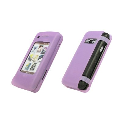 Premium Transparent Purple Silicone Gel Skin Cover Case for LG enV Touch VX11000 [Accessory Export Brand