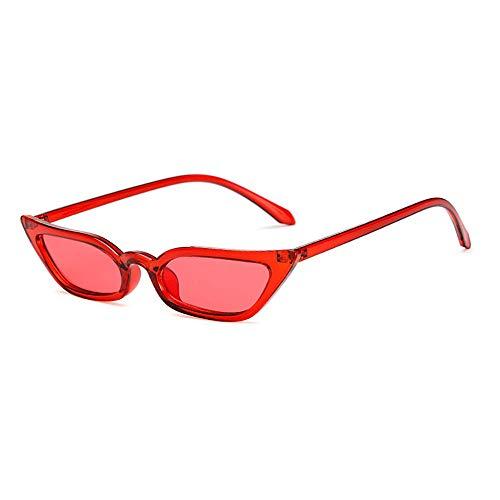 GanSen Cat Eye Sonnenbrille, New Net Red Star Street Shooting Brille Persönlichkeit Kästchen Europa und Amerika Sonnenbrille (Red Star Sonnenbrille)
