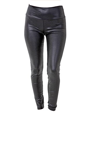 PunkJewelry Tattoo Damen Leggings Fashion Leggins Hose Leder Optik Hochglanz Einheitsgrösse