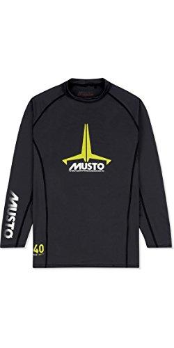 Junior Abzeichen UV schnell Dry Ls T-Shirt T-Shirt Top Schwarz - UV-Sonnenschutz und SPF-Eigenschaften - Unisex ()