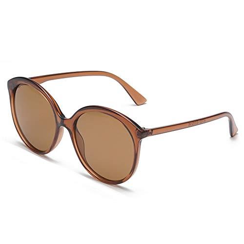 AOEIY Sonnenbrillen Polarisiert UV400 Schutz UV Strahlen Trend Sommer Herren Damen Mode Design Retro Vintage Gläser Ultra Leicht Autofahren Laufen Radfahren Angeln Golf Braun
