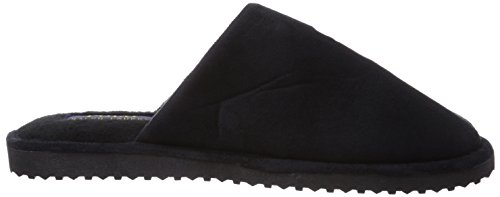 Polo Ralph Lauren Men'S Manor Slide, Chaussons homme Noir (Black Microsuede W Red)