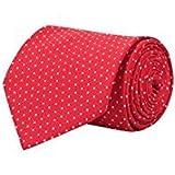 #6: FABLOOK Men's Self Textured Design Red dotted Formal Long Tie