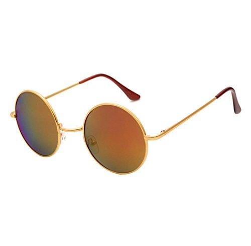 Sonnenbrille Herren Damen Btruely Polarisierte Sonnenbrille Round Männer Frauen Fahrbrille 2018 Neue Vintage Mirrored Unisex Treibenden Gläser Sportbrille Outdoor Sonnenbrillen Mode Glasse (H) (Herren-mode-runde Brille)