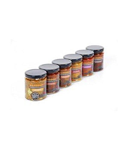 Preisvergleich Produktbild (4 Stück) – samosaco Panjabi Chilli pickle / 180 g / 4 Pack – Super Saver – Sparen Sie Geld