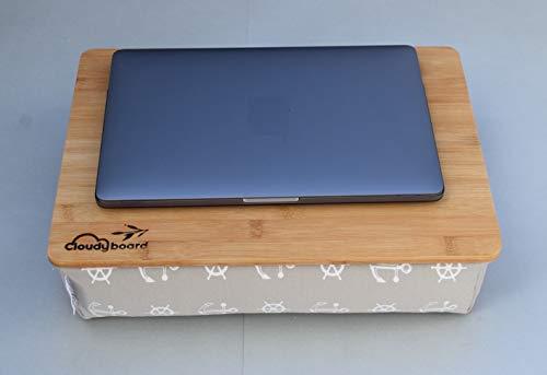 Beige Bambus Laptopkissen Knietablett Laptray Unterlage Betttisch Notebook Laptop Tablett Bett Sofa Couch Ablage kissen
