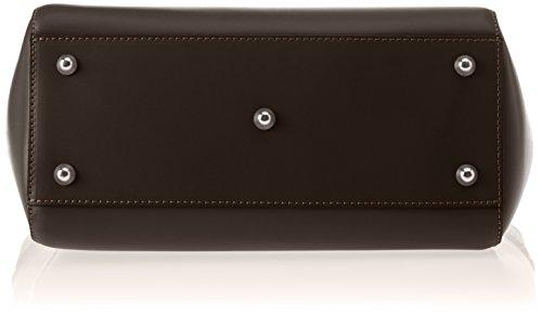 Chicca Borse Damen 8807 Schultertasche, 36x24x13 cm Marrone (TMORO)