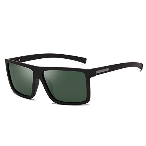 ZRTYJ Sonnenbrille Herren Sonnenbrillen Polarisierte Flat Top Sonnenbrillen Markendesigner Driving Sun Brillen Männlich Hohe Qualität Rechteck Stil