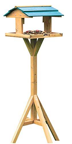 Dynamic24 Vogelhaus mit Ständer Vogel Futterhaus Vogelhäuschen Holz Vogelfutterstelle