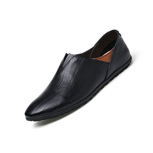CATEDOT Herren Loafer Echtes Leder Weiche Slip on Driving Hausschuhe Leichte Bequeme Schuhe für Männer (Color : Black, Size : 40EU) - Leder-leichte Loafer