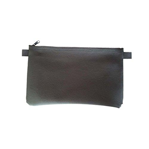 5 x Banktasche mit Reißverschluß aus Kunstleder im Set, neutral, schwarz, ca. 27 x 17 cm