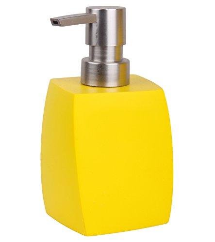 Soap Dispenser Wave Yellow | elegant, stylish design | nice eye-catcher for every bathroom
