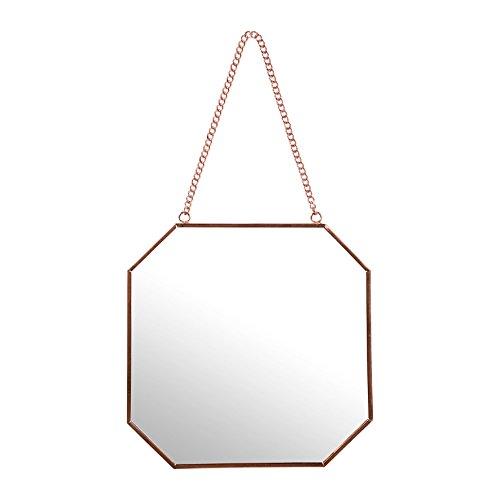 Sema-98959-espejo-de-pared-hexagonal-pequeo-modelo-Metal-rosa-dorado-005-x-19-x-185-cm