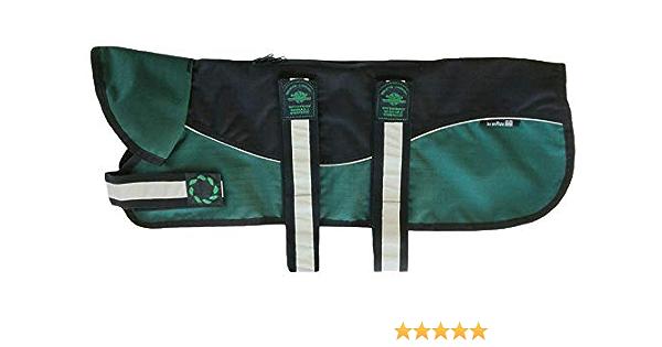 66cm One Size Outhwaite Reflective Black//Green Unpadded Harness Coat Plus Collar 26
