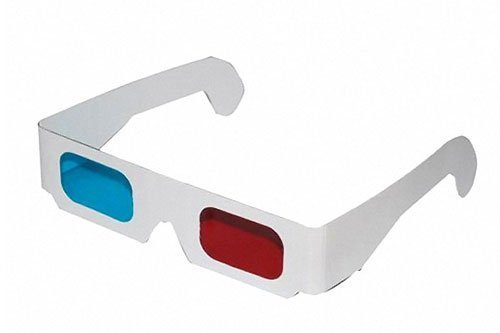 10 Stk 3D Brille rot/cyan (sog. Anaglyphenbrille) Pappe