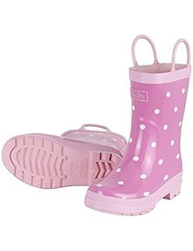 Hatley Mädchen Pink with White Dots Rain Gummistiefel