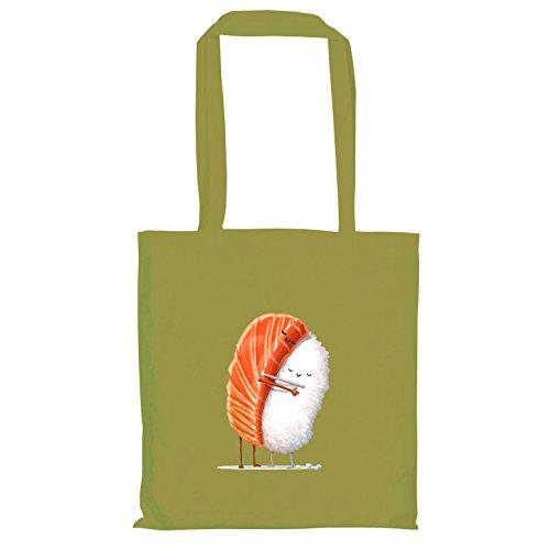 Texlab–Sushi Love–sacchetto di stoffa Oliva