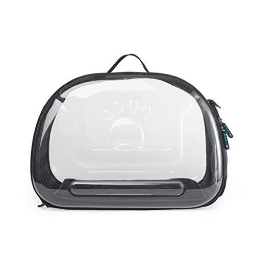 XL- Haustiere Handtasche Pet Travel Carrier, Breathable Luxury Pet Package Soft-Sided mit Pet Mats für kleine Hunde und Katzen (Farbe : SCHWARZ) -