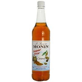 Monin Premium Caramel Sugar Free Syrup, 1L