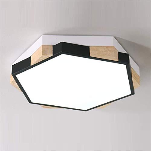 Deckenleuchte Deckenleuchten Schwarz Kinder Kinder Schlafzimmer Lampe Einfache Kreative Seltsame Jungen und Mädchen Zimmer Lampe Persönlichkeit Geometrische Polygon Kleine Wohnung Deckenleuchte, THU -