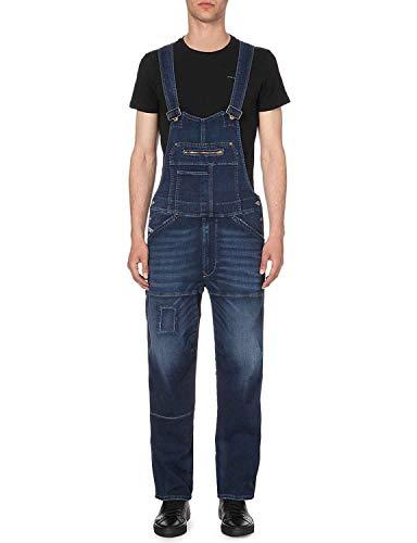 Diesel Herren Jeans Latzhose Jumber-NE Tuta 0607R (L, Blau)