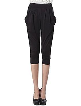 Mengmiao Mujer Pantalones Harem Anchos Casuales Jogging Yoga Deportes Pantalones Cortos