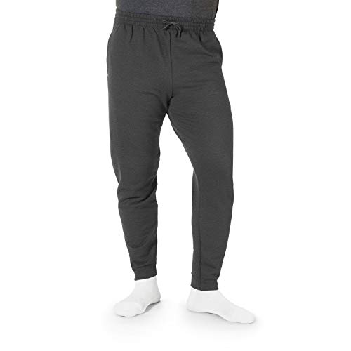 Jerzees Herren Fleece Jogger Pant Jogginghose, Heather/Black, Mittel - Baumwolle Activewear