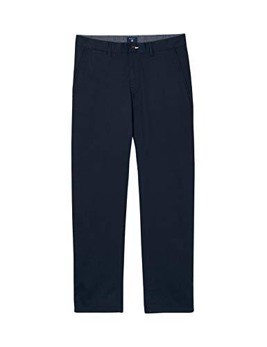 GANT Men's Regular Fit Twill Chinos Pants Navy in Size 35W 34L -