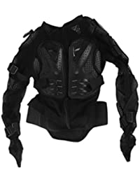 Motocross Dirt Bike Full Body Armour Jacket Chest Shoulder Elbow Plastic Coverage Quad Motorcycle Protect Suit - Black XXL