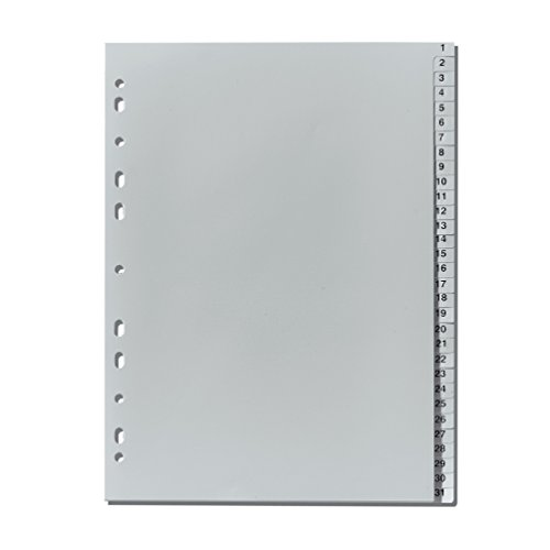 Herlitz 10843712 Register 1-31, 23 x 29,7 cm, PP, Eurolochung