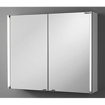 Jokey spiegelschrank jarvis wei 80cm 3 t ren for Amazon spiegelschrank