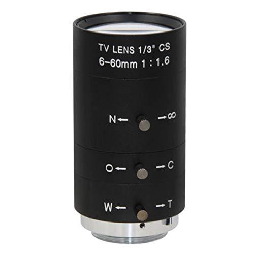 Ballylelly-CCTV Video Lens Handbuch IRIS Zoom 6-60mm CS Mount Objektiv für Industriemikroskop Varifokale CCTV Objektiv Überwachungskamera Objektiv von -
