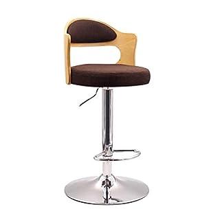 Fyyxxhh Barhocker Küchentheke Stuhl Moderne Barhocker mit hoher Rückenlehne, Holz-Freizeit-Sitzarbeitsplatte-Küchen-Wohnzimmer-Metallstuhlbeine, Mehrfarben, 60-80CM Retro Heimhocker (Color : Brown)