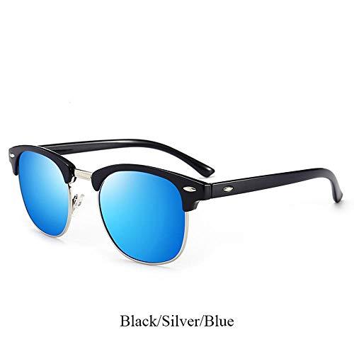 ZHOUYF Sonnenbrille Fahrerbrille Polarisierte Sonnenbrille Damen Herren Unisex Sonnenbrille Classic Retro Round Sonnenbrille Herrenbrille, C2