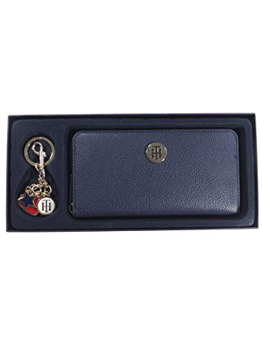 Tommy Hilfiger Damen Geldbörse Portemonnaies TH Core Zip Wallet Gift Set Blau