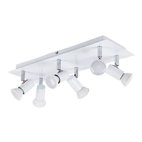 MiniSun - Moderno plafón para el techo 'Zweig' con 6 focos ajustables...
