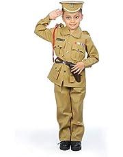 IndiaDressWala Kid's Cotton Police Inspector Uniform Costume (Brown, 4-5 Years)