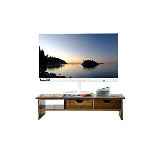 Mnjin Universal Laptop Notebook Monitor Ständer Rack, Holz Einfache Moderne Tastatur Lagerregal Schreibtisch Lagerregal Mit Schublade Und Handy Ständer -