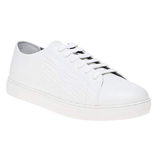Emporio Armani Side Logo Homme Chaussures Blanc