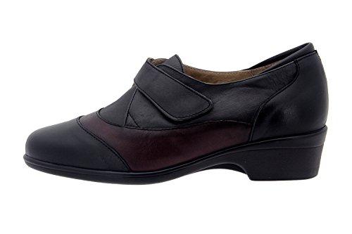 Scarpe donna comfort pelle Piesanto 3602 scarpe casual comfort larghezza speciale Negro