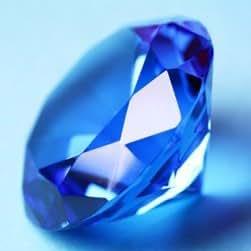 Large Blue Diamond Paperweight