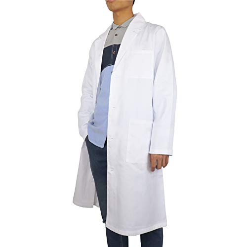 JONATHAN UNIFORM Bata Laboratorio Médica Blanca Unisexo