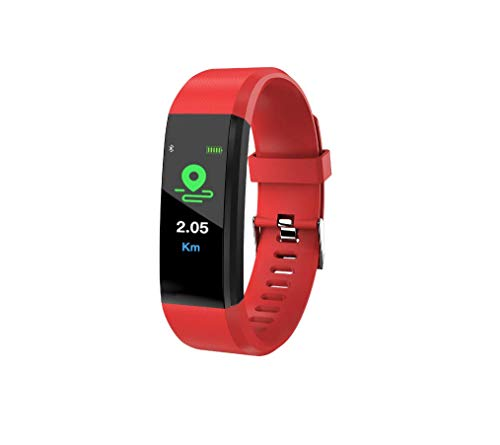 AA-SS Fitness-Tracker-Farbbildschirm Aktivitäts-Tracker mit Herzfrequenzsensor Schrittzähler Blutdruckmessgerät GPS-Tracker Smart Armband mit Textaufruf