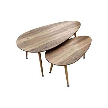 Zons Fly Lot De Tables Basses Gigognes Au Style Scandinave
