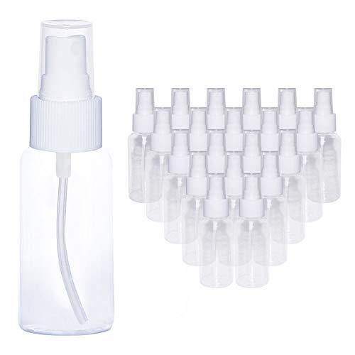 Bottigliette spray vuote 80 ml (20 pezzi)-bottiglie plastica trasparente spray con nebulizzatore- bottiglie ricaricabili anti goccia- perfette per oli essenziali, profumi, spray-da viaggio