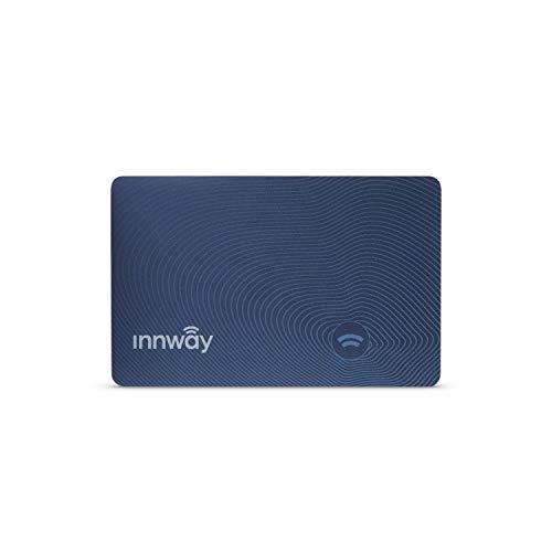 Innway Card - Ultra dünner, wiederaufladbarer Bluetooth-Tracker. Find Your Wallet, Tasche, Rucksack, Schlüssel, Laptop, Tablet