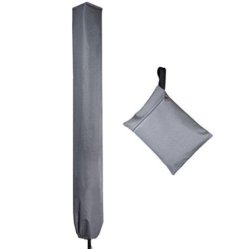 Schutzhülle Wetterfeste Abdeckung für Rotary Washing Line Abdeckung Haltbare Anti-UV-Schutzhülle,für Universal Premium für Garten Patio Drehtrockner,Farbe: Grau -
